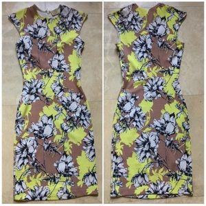Torn by Ronny kobo floral bodycon dress XS